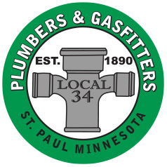 Plumbers & Gasfitters Local 34 logo