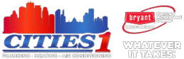 Cities 1 | Plumbing, Heating, Air Conditioning Logo